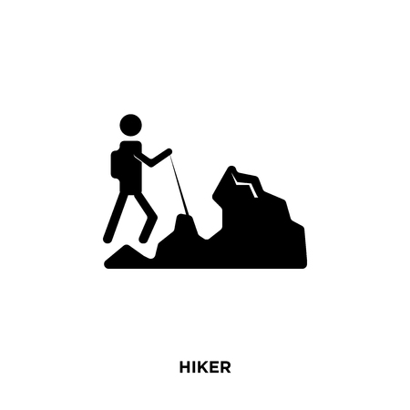 hiker icon isolated on white background for your web, mobile and app design