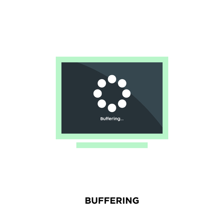 buffering icon isolated on white background for your web, mobile and app design