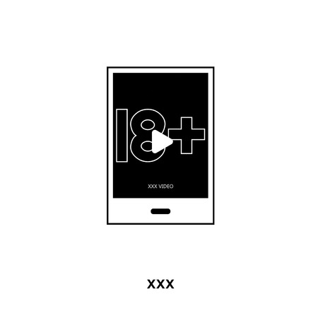 xxx icon isolated on white background for your web, mobile and app design