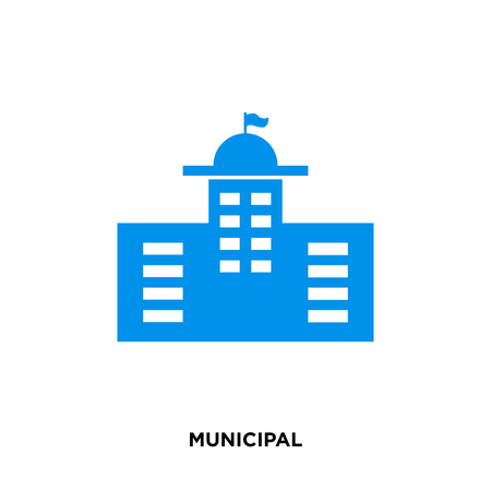 municipal icon isolated on white background for your web, mobile and app design