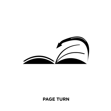 page turn icon isolated on white background for your web, mobile and app design