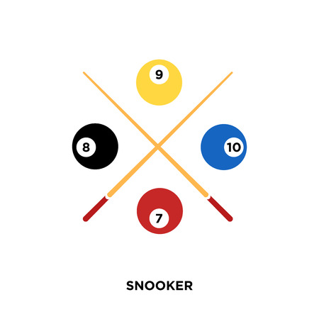 Snooker icon isolated on white background for your web, mobile and app design.