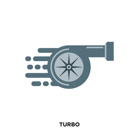 turbo icon isolated on white background for your web, mobile and app design