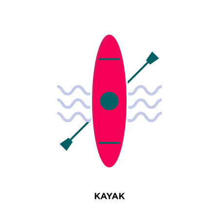 kayak icon isolated on white background for your web, mobile and app design