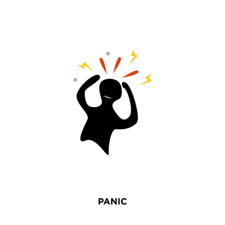 panic icon isolated on white background for your web, mobile and app design 写真素材 - 98896841