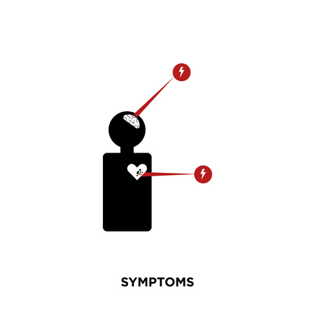 symptoms icon isolated on white background for your web, mobile and app design