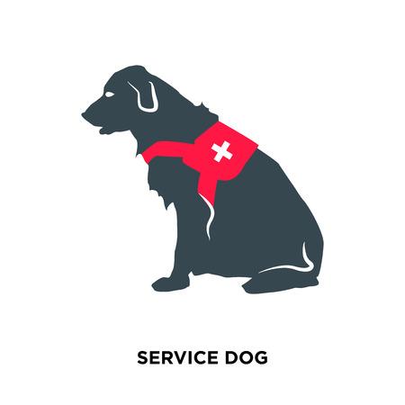 icona del cane di servizio isolato su sfondo bianco per la progettazione di web, mobile e app Vettoriali