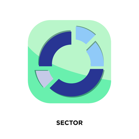 sector icon isolated on white background for your web, mobile and app design