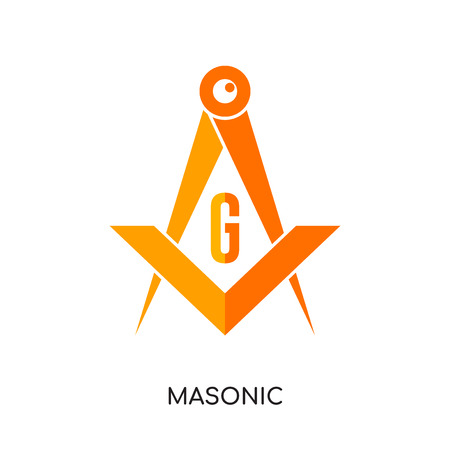 Masonic image isolated on white background for your web, mobile and app design.