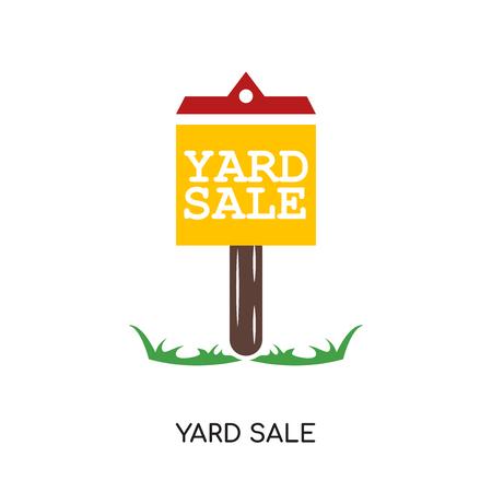 Yard sale image isolated on white background. Illustration