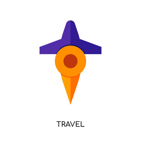 travel logo png isolated on white background for your web, mobile and app design