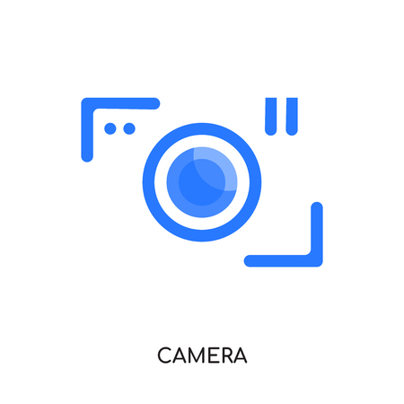 camera logo isolated on white background for your web, mobile and app design