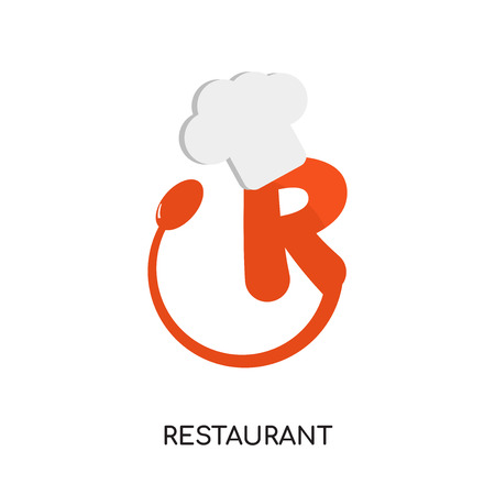 resturant logo isolated on white background for your web, mobile and app design