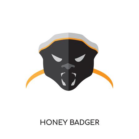 Honey Badger Illustration isolated on white background.