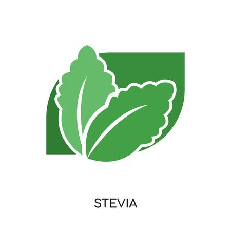 白い背景イラストにウェブ、モバイル、アプリのデザインのためのステビアアイコン。