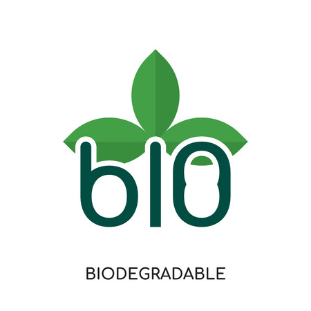 biodegradable logo isolated on white background for your web, mobile and app design