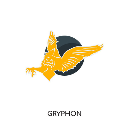 gryphon logo isolated on white background for your web, mobile and app design