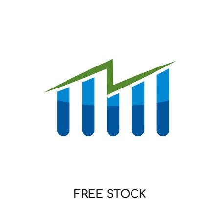 freie Aktienikone lokalisiert auf weißem Hintergrund für Ihr Netz-, Mobile- und APP-Design