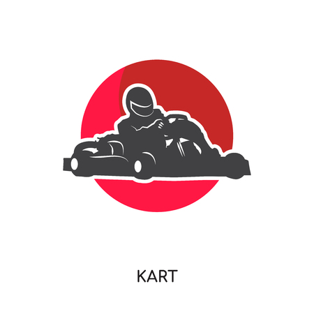 Kart logo isolated on white background for your web, mobile and app design