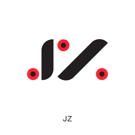 jz logo isolated on white background for your web, mobile and app design