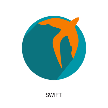 swift logo isolated on white background for your web, mobile and app design