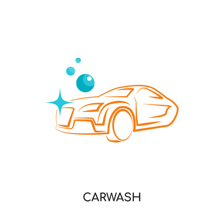 Car wash logo isolated on white background for your web, mobile and app design Vector illustration.