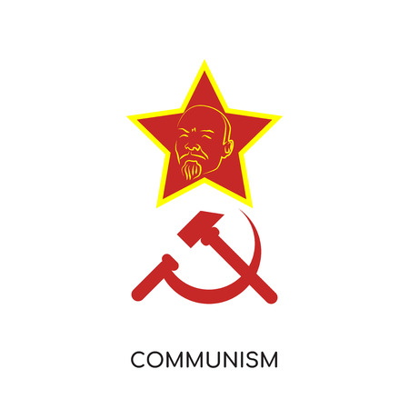 communism logo isolated on white background for your web, mobile and app design Vector illustration. Illustration