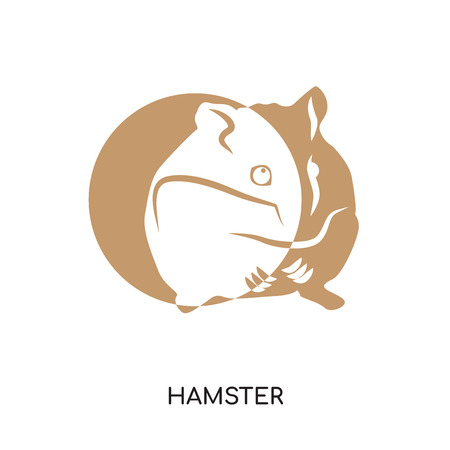 hamster logo isolated on white background for your web, mobile and app design