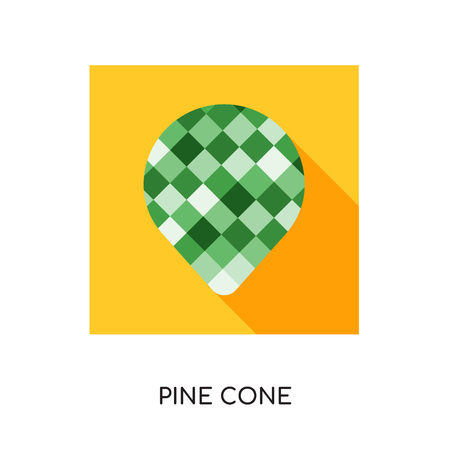 pine cone logo isolated on white background for your web, mobile and app design