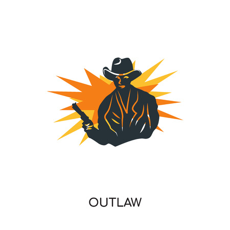 outlaw logo isolated on white background for your web, mobile and app design