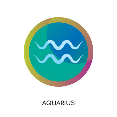 aquarius logo isolated on white background for your web, mobile and app design