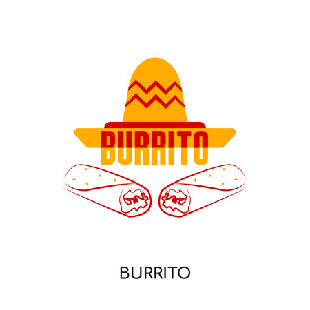burrito logo isolated on white background for your web, mobile and app design Illustration