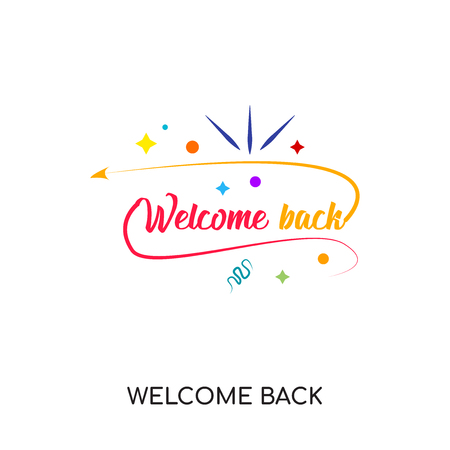 Welcome back icon isolated on white background for your web, mobile and app design.