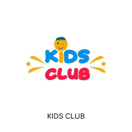 kids club icon isolated on white background for your web, mobile and app design.