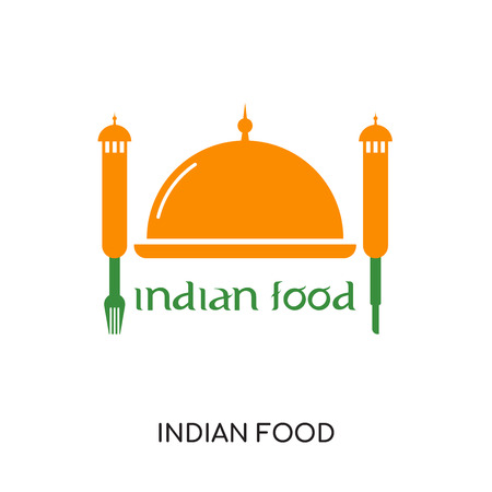 Indian food icon isolated on white background for your web, mobile and app design. Illustration