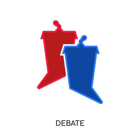 Debat pictogram geïsoleerd op een witte achtergrond voor uw web-, mobiele en app-ontwerp.