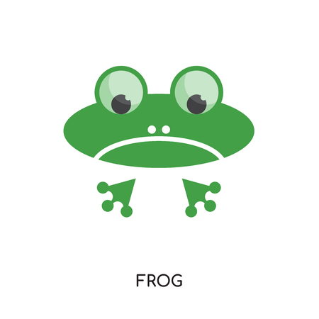 Frog icon isolated on white background for your web, mobile and app design.