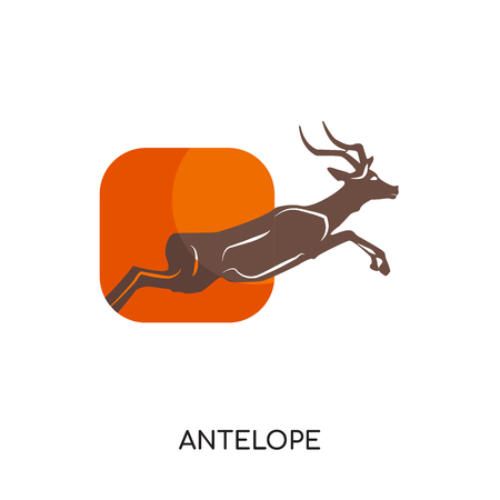 antelope logo isolated on white background for your web, mobile and app design