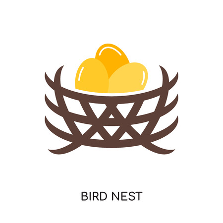 bird nest logo isolated on white background for your web, mobile and app design Illustration