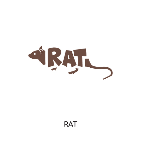 rat logo isolated on white background for your web, mobile and app design