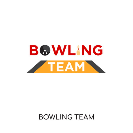 Bowling team logo isolated on white background for your web, mobile and app design