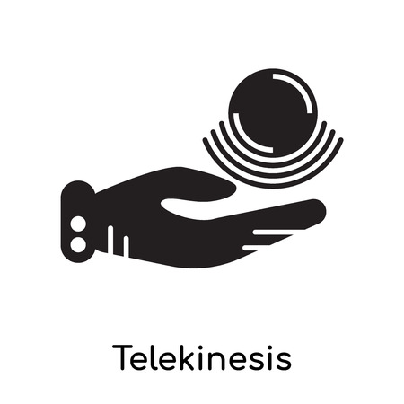 Telekinesis icon isolated on white background for your web and mobile app design , black filled vector sign and symbols