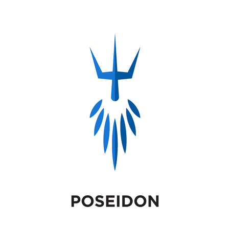Poseidon isolated on white background for your web and mobile app design. Illustration