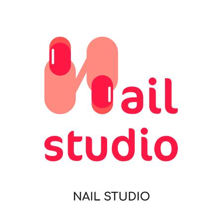 estudio de uñas aislado sobre fondo blanco para su diseño web y aplicación móvil .