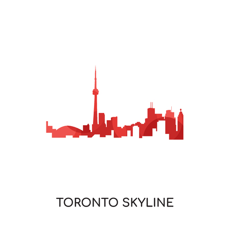 Toronto skyline isolated on white background for your web and mobile app design.