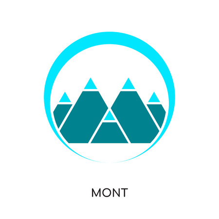 Mountain design isolated on white background for your web and mobile app design.