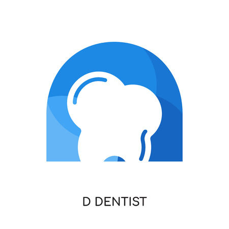 d dentist logo isolated on white background for your web and mobile app design , colorful vector icon, brand sign & symbol for your business