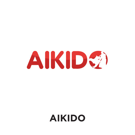 Aikido isolated on white background for your web and mobile app design.
