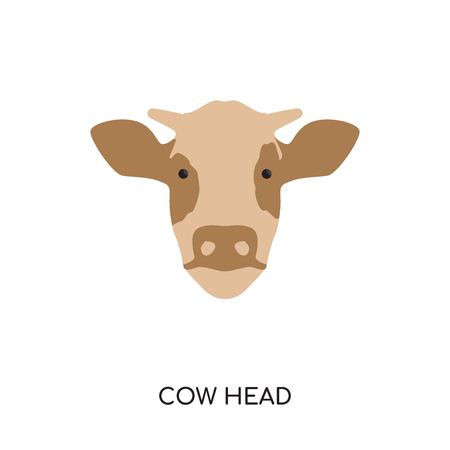 Cow head isolated on white background for your web and mobile app design.