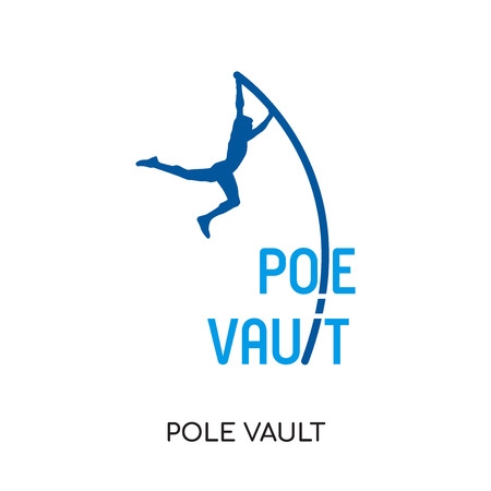 Pole vault isolated on white background for your web and mobile app design.